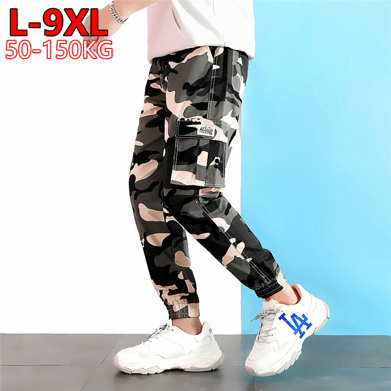 Camouflage Joggers Pants Big Size 6XL 7XL 8XL 9XL Cargo Men Joogger Harem Trousers Mens Fashions Kargo Military Army Camo Pant