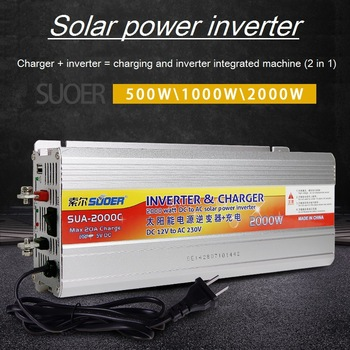 grid tie Inverter 12v 220v Hybrid Solar power inverter charger Voltage Transformer USB 500W 2000W Converter Adapter for car home 1