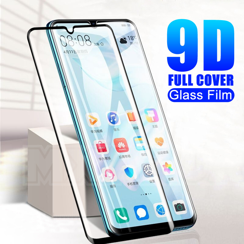 9D Protective Glass On The For Huawei P30 P20 Lite Pro P10 Lite Plus P Smart 2019 Tempered Screen Protector Glass Safety Film