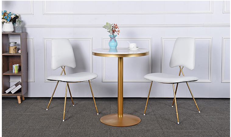 Leisure cafe negotiating table and chair combination marble net red shop restaurant small round table tea shop tables and chairs