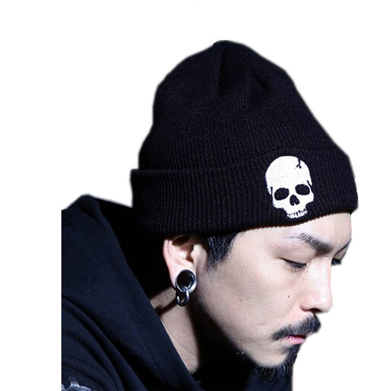 Hot Skull Beanies Men's Hat Winter Hats For Men Women Winter Knit Hat Caps Brand Bonnet Skullies Warm Balaclava Cap Beanie