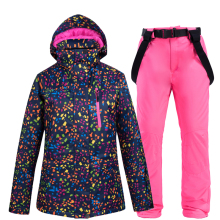 купить Women's Ski Suit Thermal Ski Jacket Pants Set Windproof Waterproof Snowboarding Jacket Winter Female Skiing Suits Snow Coat в интернет-магазине