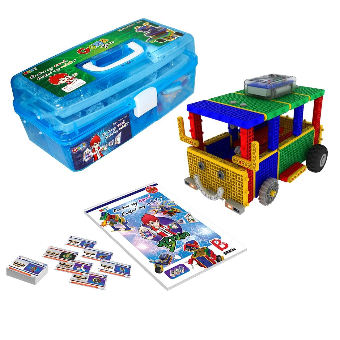 mrt 1 cerebro fk robos coloridos bulding bloco conjunto kit brinquedo robo educacional para iniciante 6