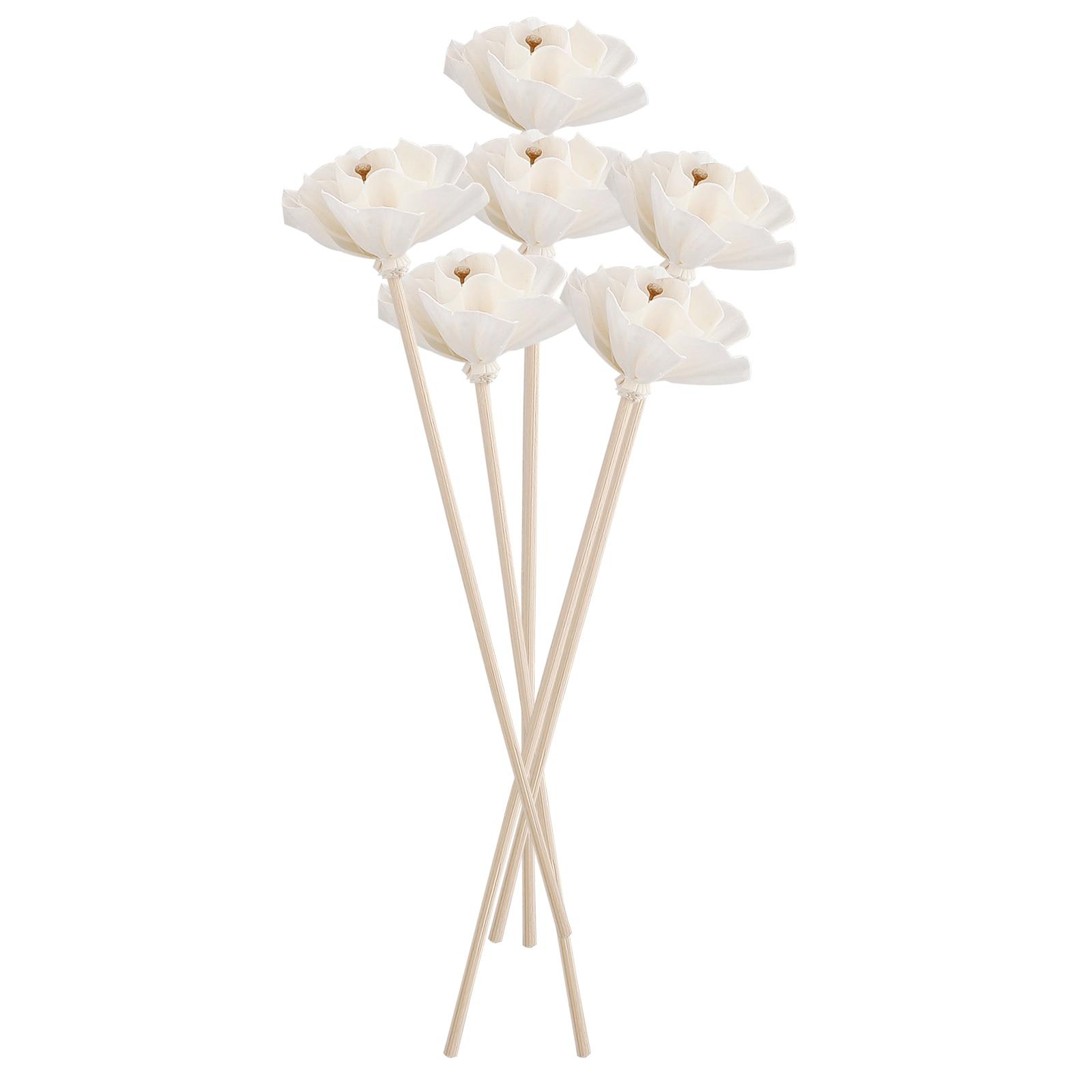 Ароматерапия ротанговый сушеный цветок Сделай Сам 6 шт. декор для спа спальни комнаты вечевечерние ванной дома подарки деревянные стержни д...