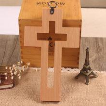 Croix en bois de hêtre creuse, croix catholique, croix en bois, décoration d'église, articles religieux, croix en bois, décoration de maison