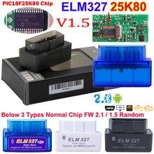 Melhor mini elm 327 v1.5 bluetooth para o leitor de código do carro do varredor do automóvel de android elm 327 obd2 ferramenta diagnóstica elm-327 v 1.5 obd 2 ii