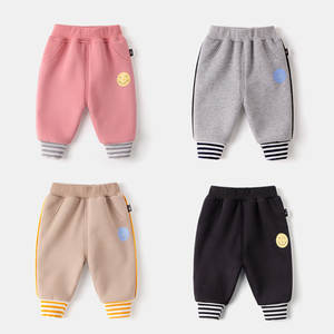 Baby boys girls toddler pants thick trousers children clothing autumn winter velvet clothes stripe cute pants