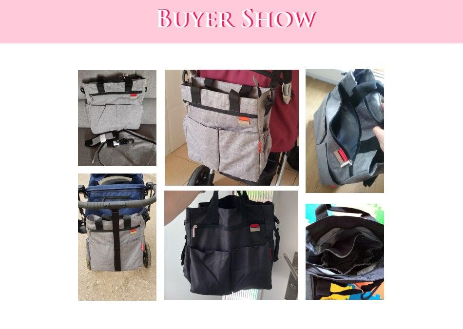 H40d966820bea4c1ba5506afed4f27ba3z Insular Mummy Diaper Bag Large Nursing Bag Travel Backpack Designer Stroller Baby Bag Baby Care Nappy Backpack bolsa maternidade