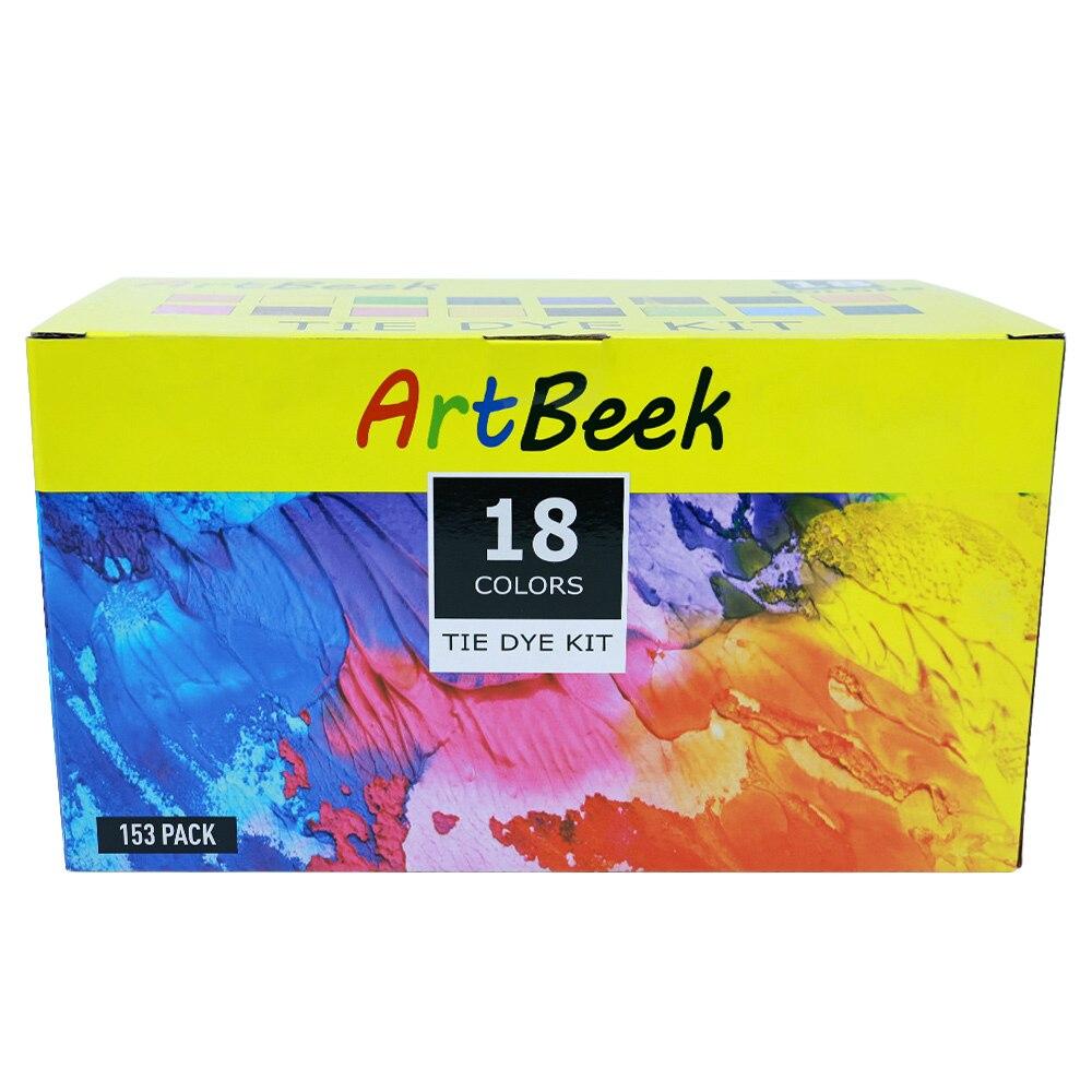 18pcs Tie Dye Kit Non-toxic DIY 120ml Tie Dye Kit Pigment Set Colorful Clothing Garment Graffiti Paint Dye Supplies