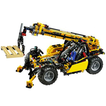 8295 инженерный Телескопический обработчик модели строительных блоков совместимые технические блоки городской кирпич игрушки для детей Под