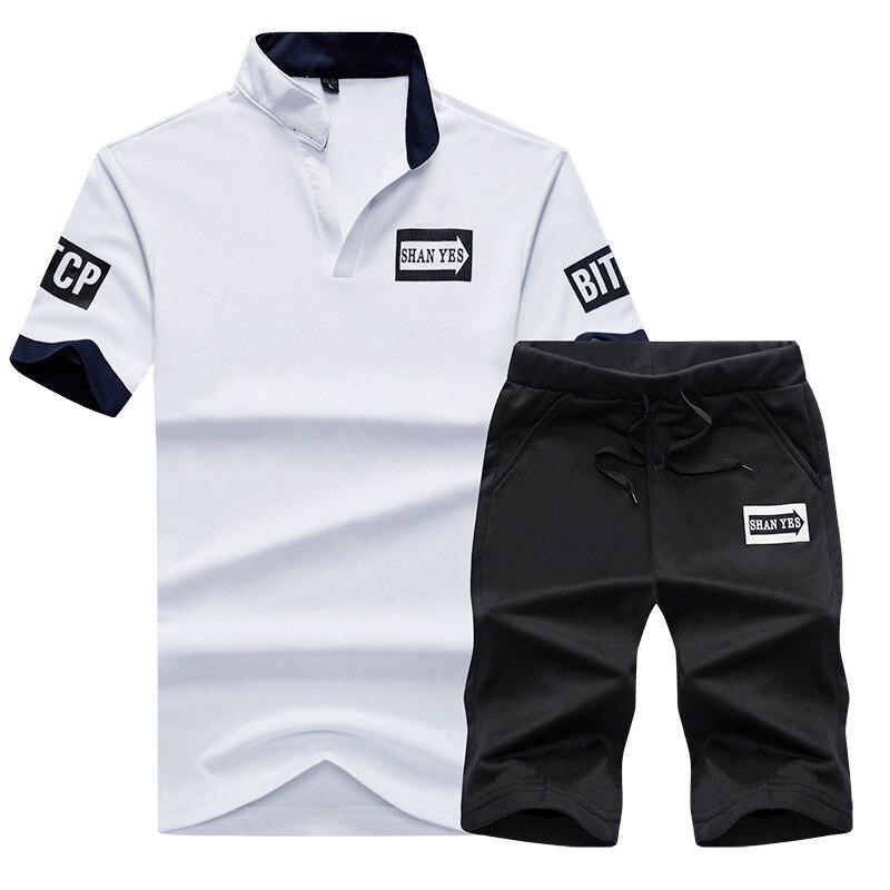 Leisure Sports Suit Man Summer Thin Summer Korean-style Trend Summer Wear Short Sleeve Handsome Spring And Summer Popular Brand