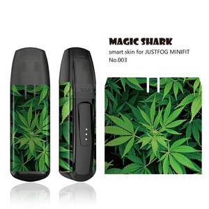 Image 4 - Magic Shark 2020 New Stereo 3M Leaf Skull Vendetta Tiger Umbrella Sticker Film Cover Case for JUSTFOG MINIFIT