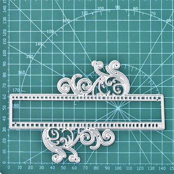 Eastshape Flower Border Metal Cutting Dies Banner Dies for DIY Scrapbooking Craft Card Embossing Die Cut New Template Stencil