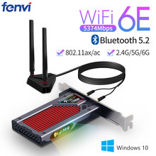 Fenvi desktop wi-fi 6e ax210 pcie wifi adaptador 2.4ghz/5g/6g bluetooth 5.2 802.11ax intel ax210ngw wifi6 cartão sem fio windows 10