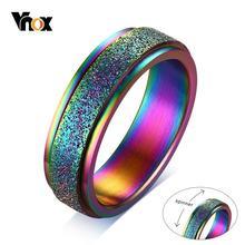 Vnox 6 мм Спиннер из нержавеющей стали кольца для мужчин ювелирные