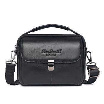 Multi-functions Leisure Waist Belt Bag Men Small Genuine Leather Top-handle Handbag Crossbody Shoulder Bags Cell Phone Pouch