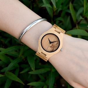 Image 3 - BOBO BIRD montres à Quartz en bois de bambou, avec cadran avec tête de cerf, personnalisé, cadeau danniversaire