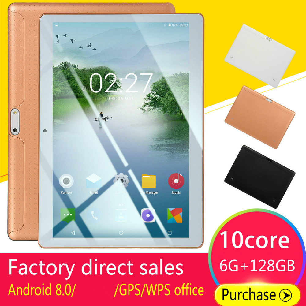 Hot Sale 10 Inch Android 8.0 Tablet PC Octa Core Dual Camera 2.0MP/5.0MP RAM 6GB+ROM 128G/64G/16G WiFi 2020 Tablets