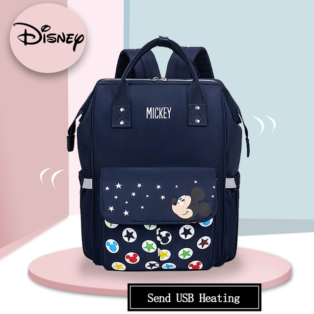 Disney 2020 Mummy Diaper Bags Maternity Nappy Large Capacity Baby Bag Travel Backpack Nursing Baby Care Mommy Bag Mickey Minnie | Happy Baby Mama
