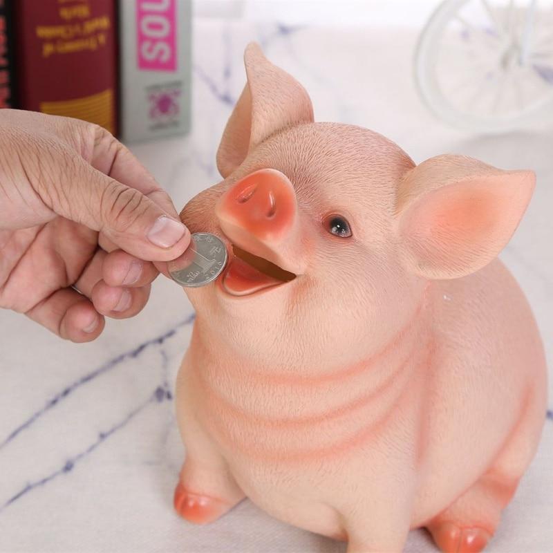 Piggy Bank Child Portable Pig Piggy Bank Household Decoration Craft For Decor Gift Ниссе