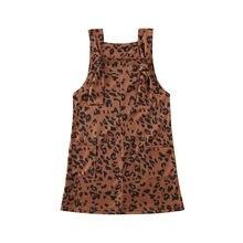 АА малыш Дети Детские платья для девочек одежда леопарда нагрудник подтяжки комбинезоны платья наряд 2020 Детская летняя одежда для девочек 1-6 лет