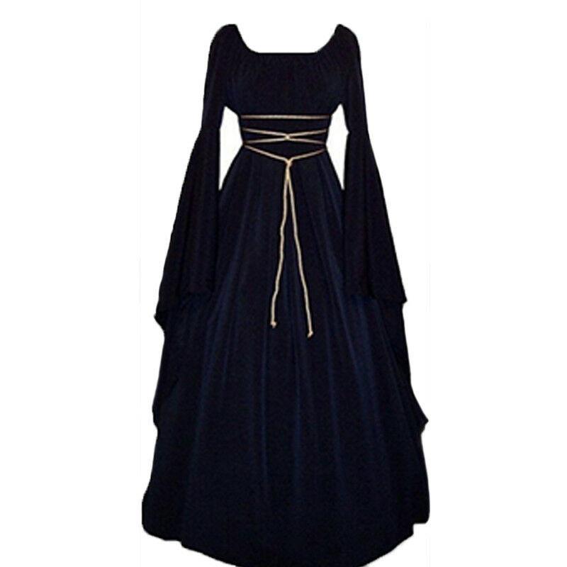 €10.3 39% СКИДКА|Горячая Распродажа, элегантное платье для Хэллоуина, женское длинное платье в викторианском стиле, в стиле ренессанса, Средневековья, готический костюм ведьмы, вечерние платья|Платья| |  - AliExpress