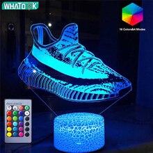 3D спортивная серия ночной Светильник для игры светодиодный настольный светильник кроссовки футбольный скейтборд дистанционный ночной Светильник день рождения праздник Рождество подарки