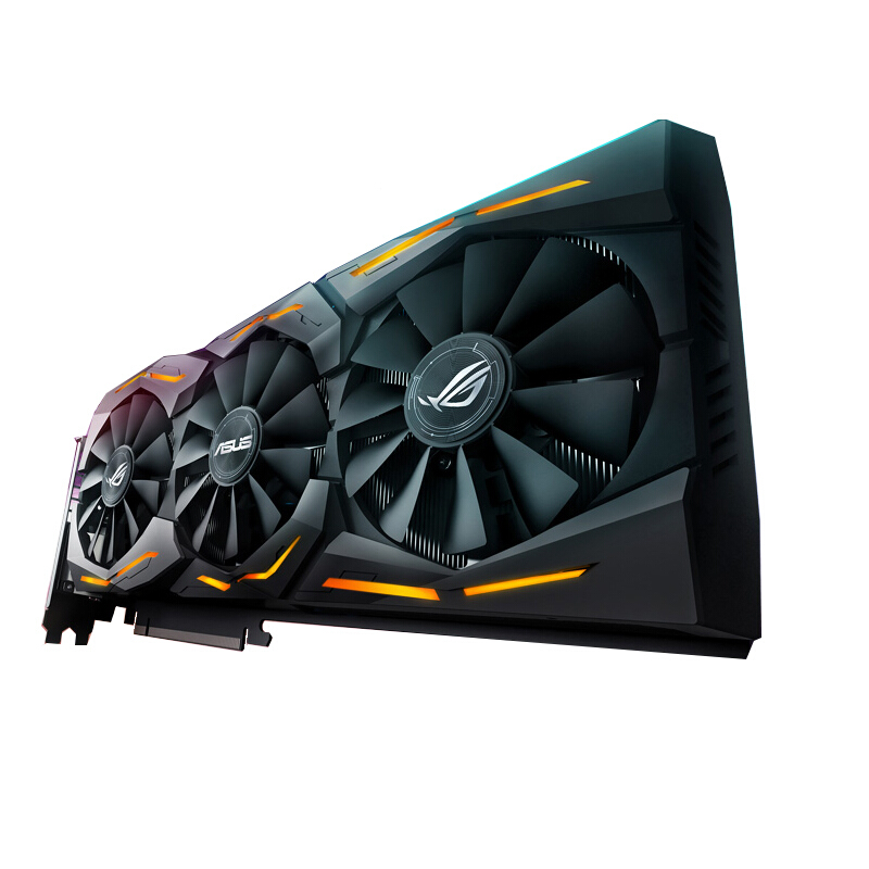 ASUS STRIX-RX580-T8G-GAMING Raptor High Frequency Game Graphics Used Like New
