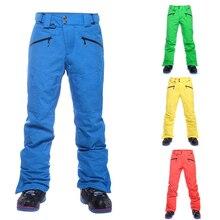 SAENSHING Winter Ski Pants Men Warm Strap Waterproof Snowboard Pants for Male Thicken Snow Trousers Thermal