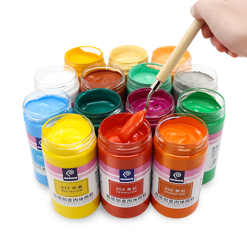 300ml Acrylic Paint Set Wall Painting Pigment Acrylic Paint Diy Hand-painted Painted Clothes Picture DIY