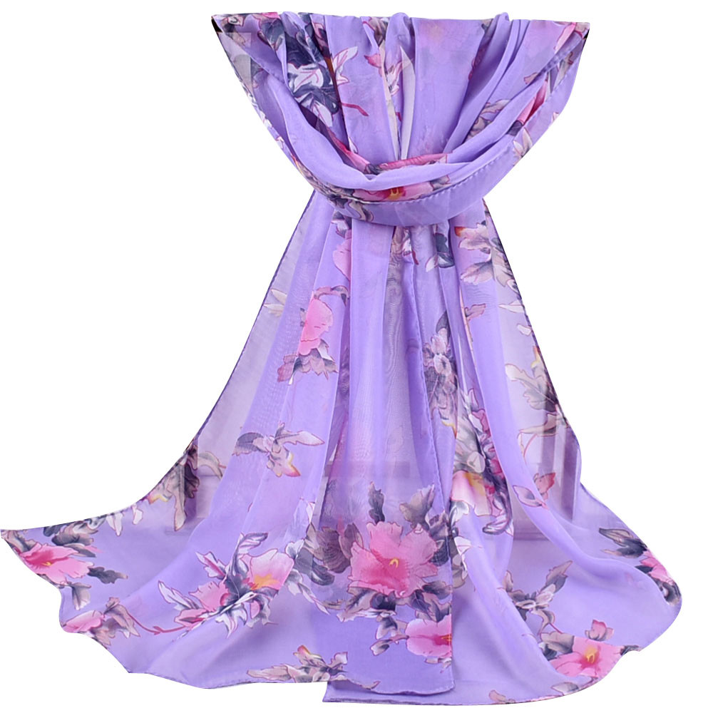 2020 New Autumn Winter Women Printed Soft Chiffon Shawl Wrap Wraps Scarf Scarves Ladies Pastoral Chiffon Scarves Scarves  #927