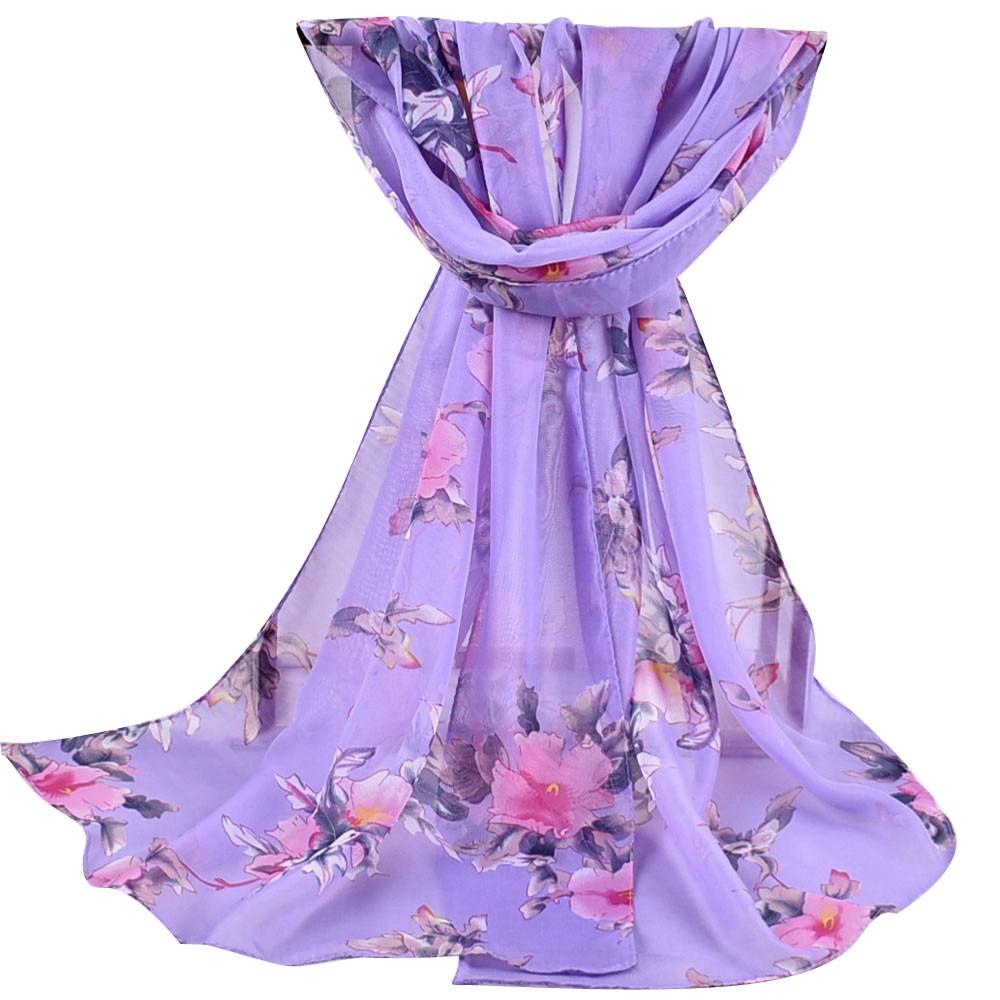 2020 New Autumn Winter Women Printed Soft Chiffon Shawl Wrap Wraps Scarf Scarves Ladies Pastoral Chiffon Scarves Scarves  #927