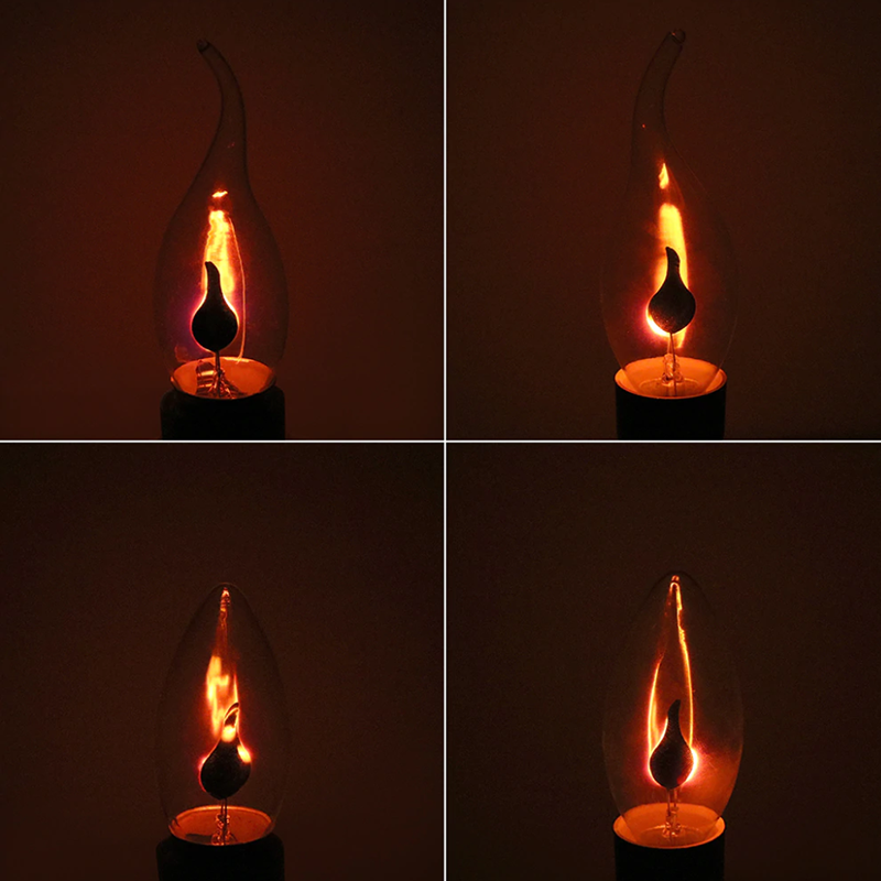 E27 E14 3W Vintage Industrial Filament LED Light Bulb Lamps Bulbs Edison Edison Bulb Vintage Flickering Flame Fire Lighting