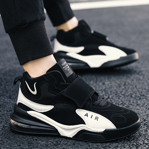 Image 5 - Men Women Cushioning Basketball Shoes Max Size 45 Basketball Sneakers Anti skid High top Shoes Male Suede Basketball Boots 2019