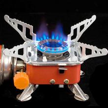 Cooking-Stove Gas-Furnace BBQ Square Foldable Stainless-Steel Travel Picnic Outdoor Camping