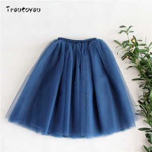 Image 4 - Streetwear 5 couches 65 cm Midi jupe plissée femmes gothique taille haute Tulle jupe patineuse rokjes dames ropa mujer 2019 jupe femme