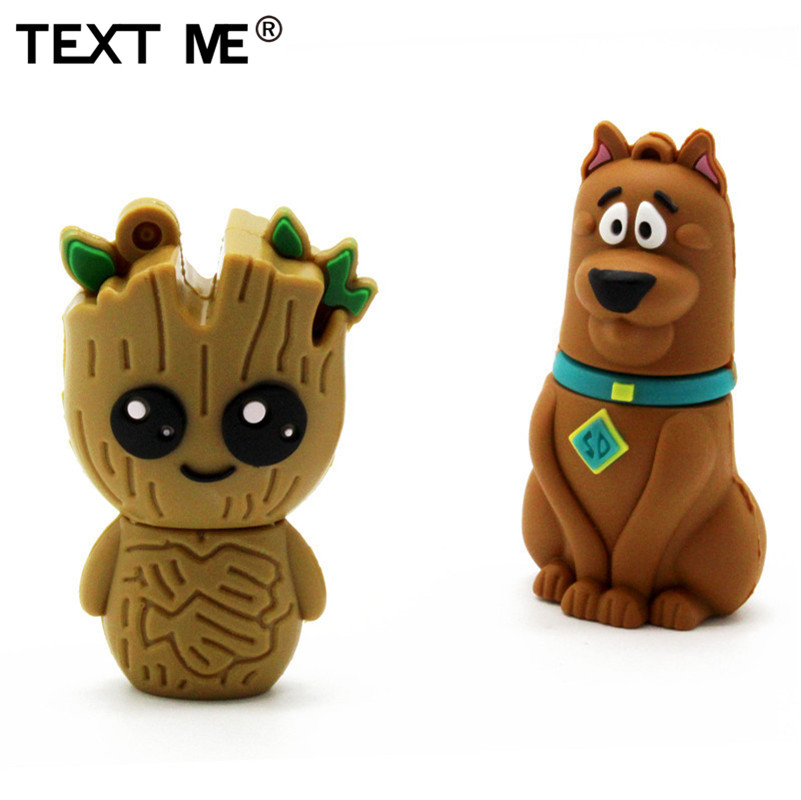 TEXT ME 64GB  New Style 4 Model Cute Tree Demon Dog Clown Usb Flash Drive Usb 2.0 4GB 8GB 16GB 32GB  Pendrive Gift