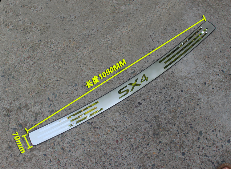 Fit For <font><b>Suzuki</b></font> <font><b>SX4</b></font> Hatchback Stainless Steel Rear Bumper Scuff Protection Plate Guard Plate Car Accessories 2006-2011 2012 2013 image