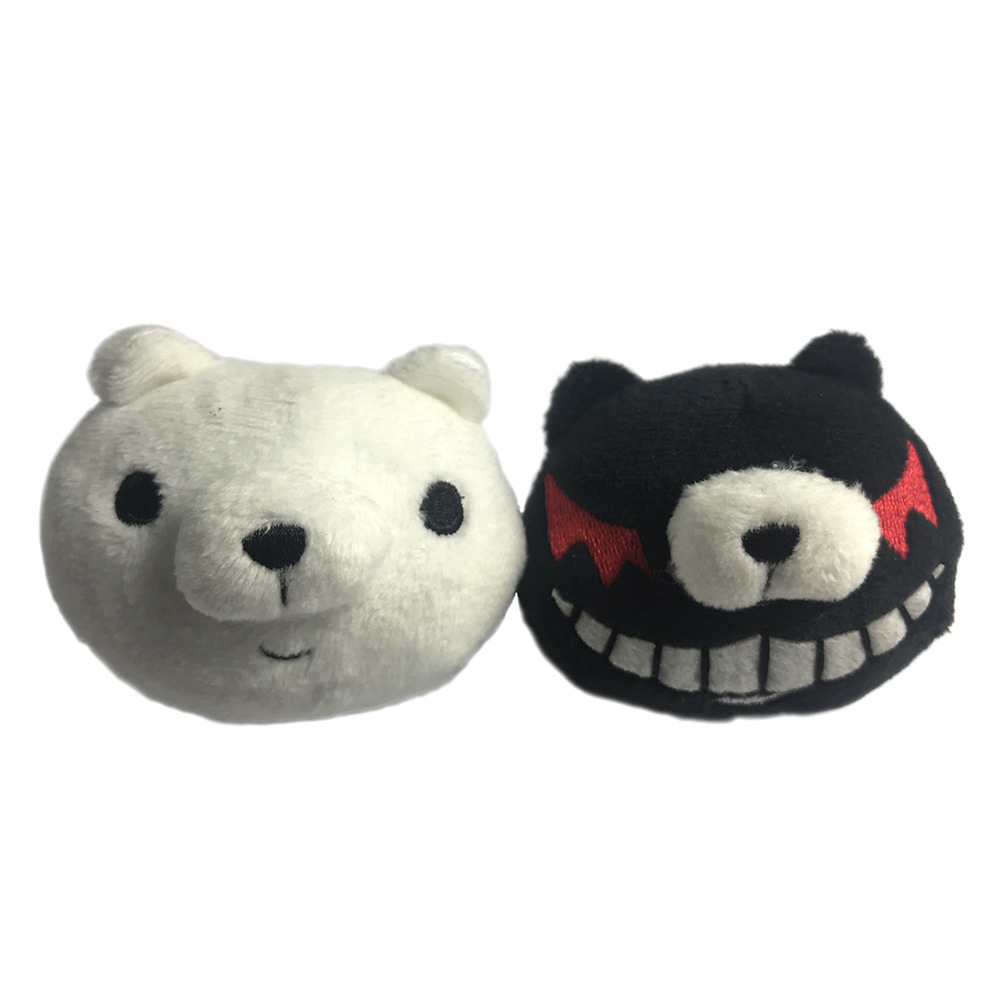Anime <font><b>Danganronpa</b></font> Monokuma Cosplay Headwear White Black Bear Embroidered Headband Hairclips Enoshima Junko Hair Accessories image