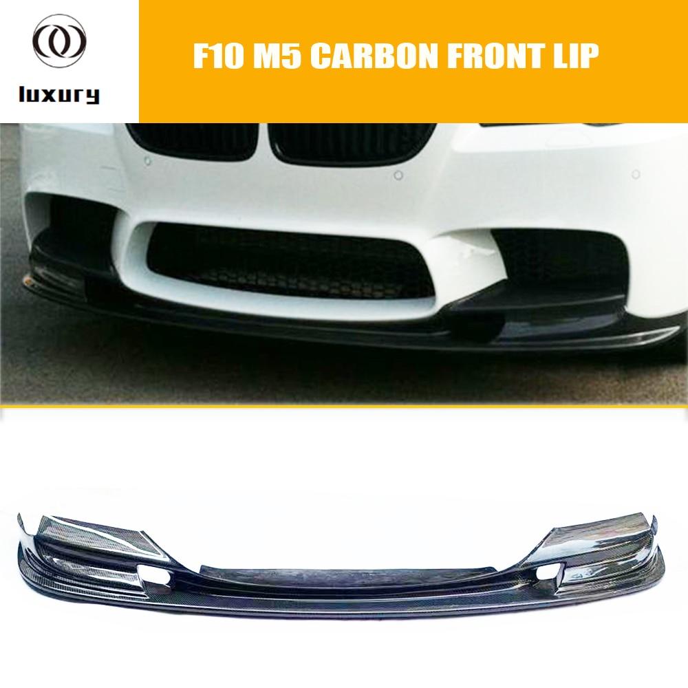 F10 M5 3D спойлер для переднего бампера из углеродного волокна, оригинальный спойлер для BMW M5 & 520 528 535 550, сменный на тайваньский бампер M5
