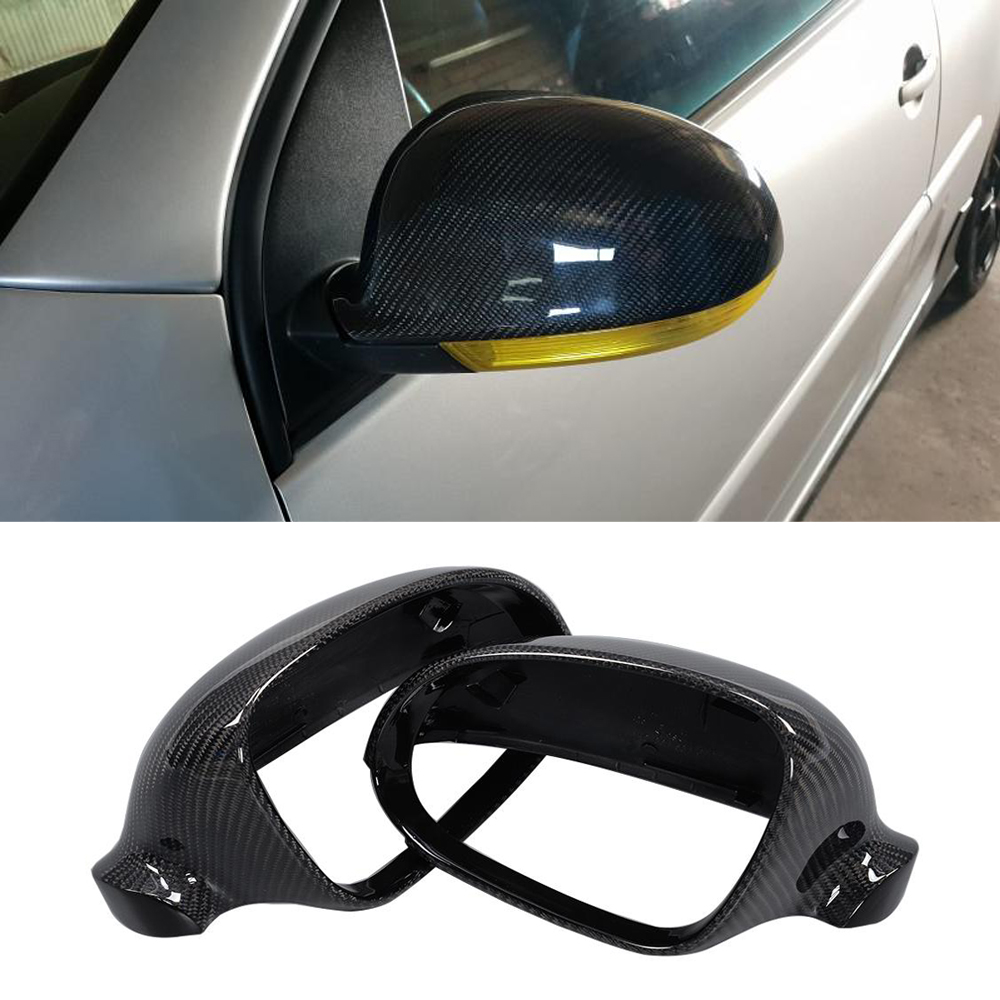 <font><b>Carbon</b></font> Fiber Car Side Mirror Covers for <font><b>VW</b></font> <font><b>Golf</b></font> <font><b>5</b></font> R32 <font><b>GTI</b></font> Standard 2006-2009 Rearview Mirror Covers Caps Shell Case Replacement image