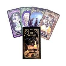 Familiars tarô cartões de orientação mística deck adivinhação entretenimento partys tabuleiro jogo suporta por atacado 78 folhas/caixa