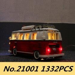 Lepinblocks 21001 Volkswagen T1 Camper Technik Bausteine Ziegel Spielzeug Kompatibel 10220 Bus Weihnachten Geschenk für kinder