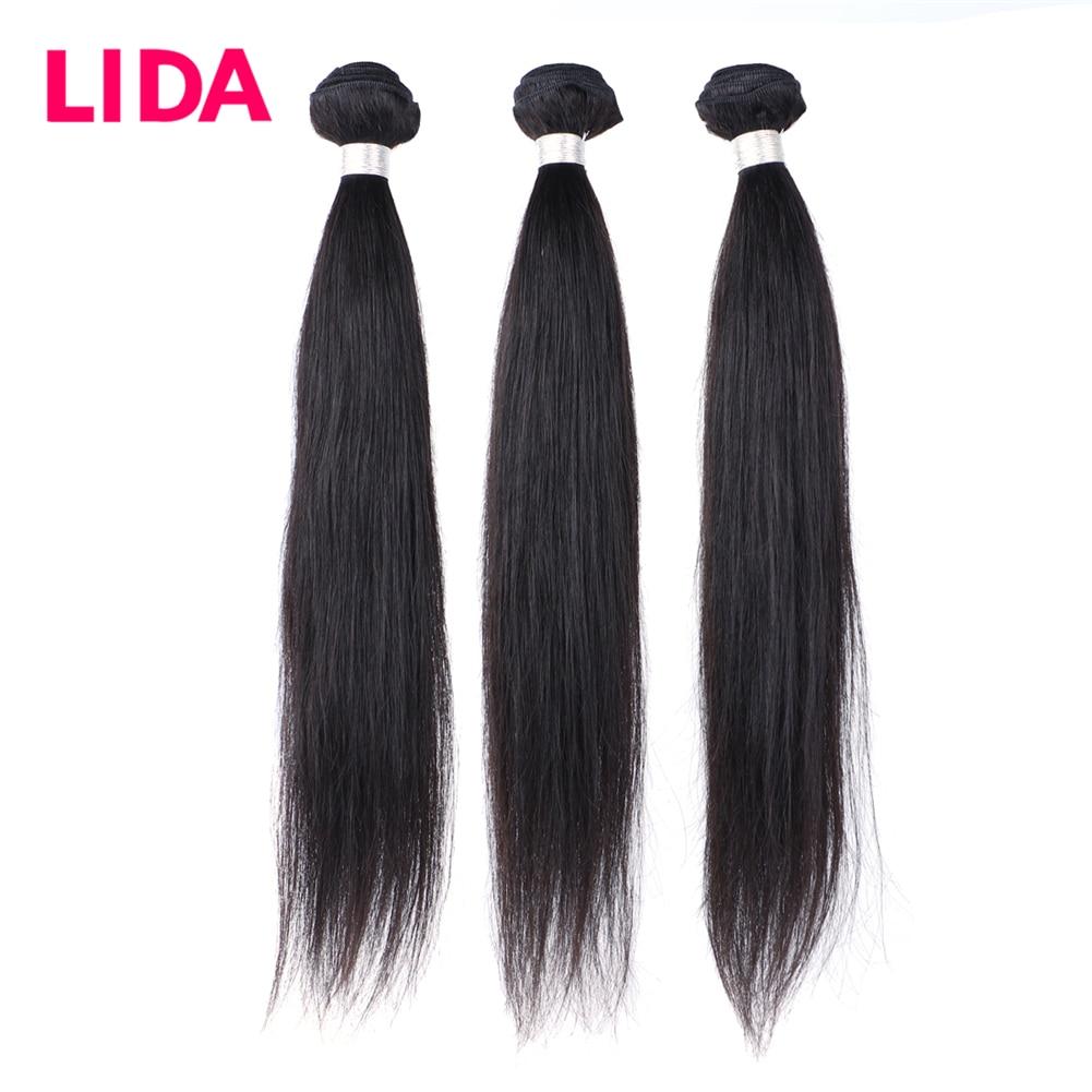 Lida Brazilian Natural Human Hair Bundles Remy Brazilian Hair Extension Natural Color Three Bundles Deal  For Black Women