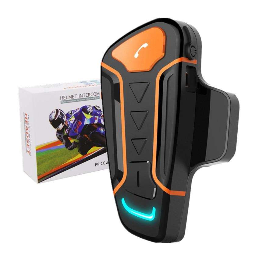 WT003 мотоциклетный беспроводной Bluetooth шлем рация 1000 м полный дуплексный BT переговорный для мото шлемов гарнитура + FM