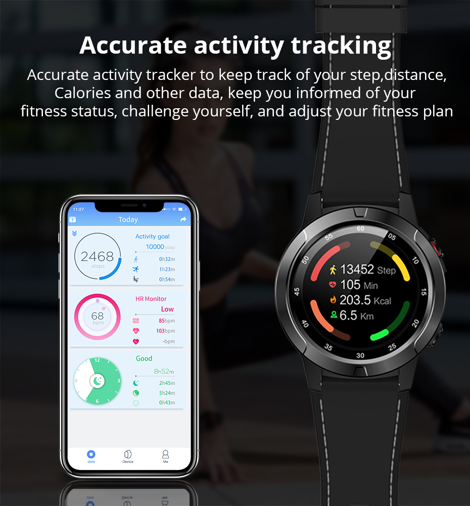 Makibes G58 Smart watch Compass Multi-language GPS Men Sport Heart Rate Monitor Call Message Reminder Activity Fitness trackerG58_06