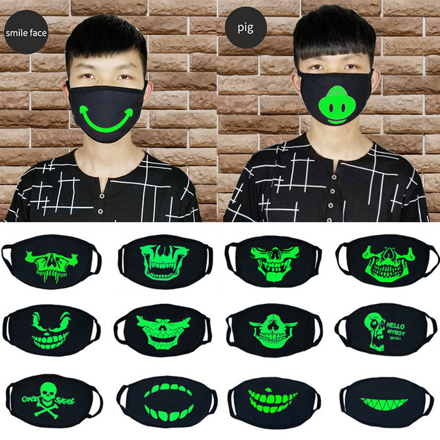 Anti Dust Flu Bacteria Windproof Cartoon Cotton Mouth Mask Respirato Luminous Disfraces Carnaval Party Supplies Cosplay Masks 1
