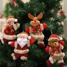 Merry Christmas Ornaments Christmas Gift Santa Claus Snowman Tree Toy Pendant Doll Home Decorations New Year Party Supplies цена и фото