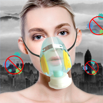 Reusable Health Protective Respirator Face Mask Food Grade Silicone Face Pollution Anti Dust Gas Mask Anti Flu Gauze Mask