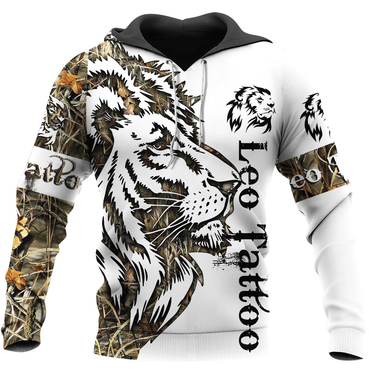 Beautiful lion Tattoo 3D Printed Men Hoodie Harajuku Fashion Hooded Sweatshirt Autumn Unisex Jacket pullover sudadera hombre